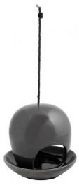 Vogel Futterhaus Keramik - Grau FB191 G