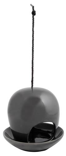 Vogel Futterhaus Keramik - Grau