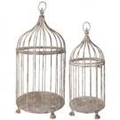 Vogelkäfig Antik-Weiss im 2er Set
