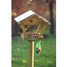 Vogel Futterhaus mit Zinkdach und Pfosten - FB72